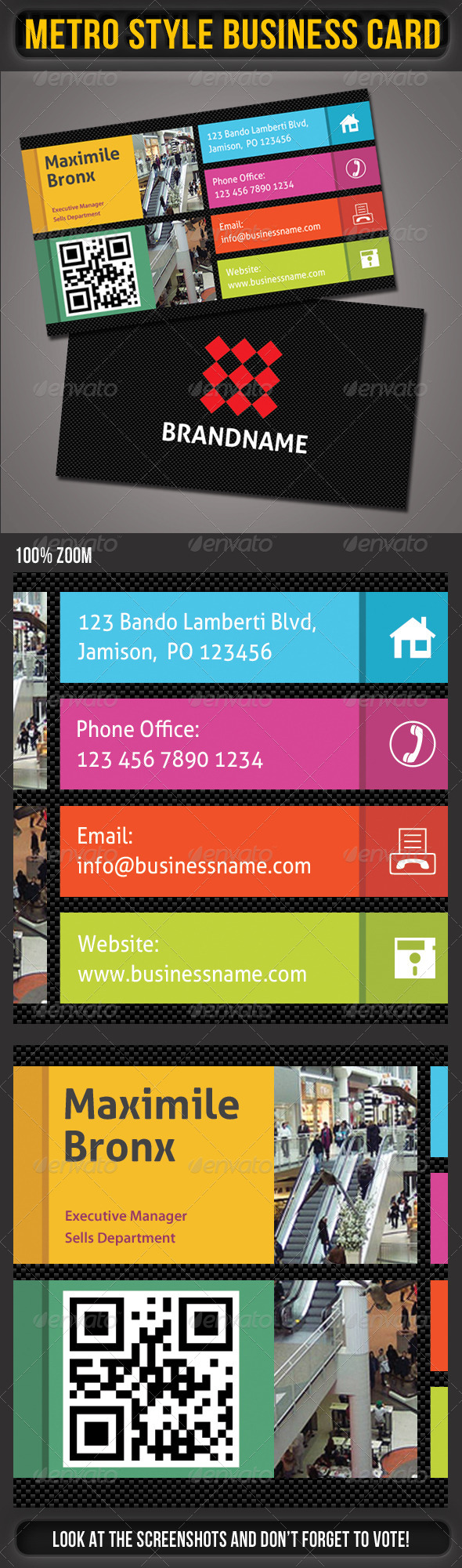 Metro Business Card 01 - Corporate Business Cards