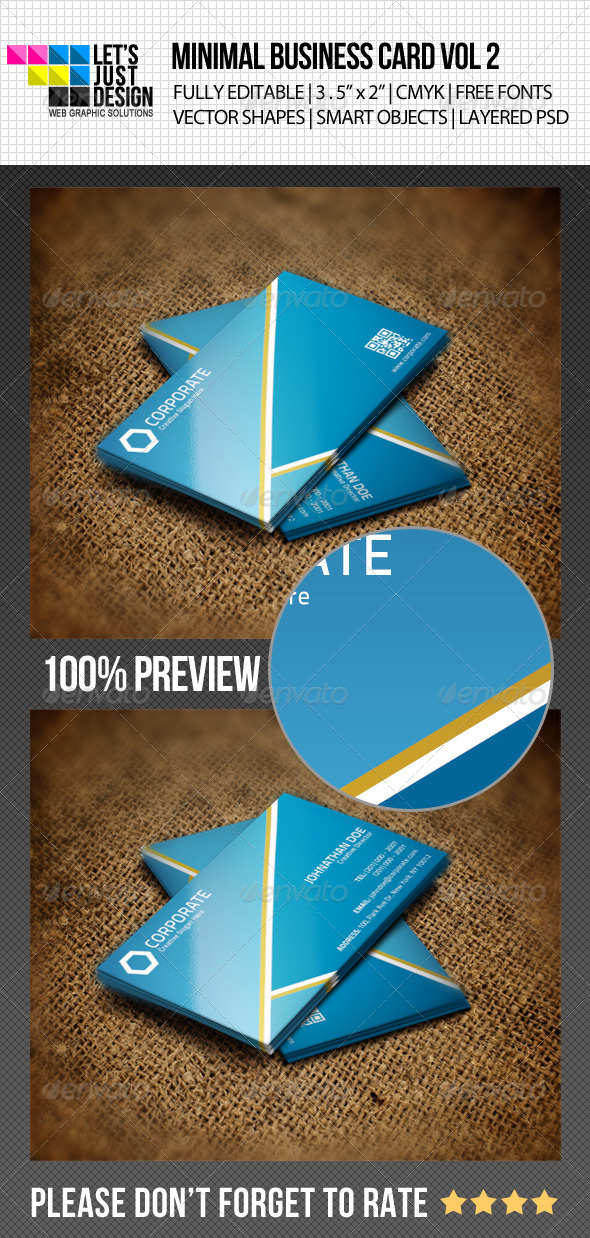 Minimal Business Card Vol 2 - Corporate Business Cards