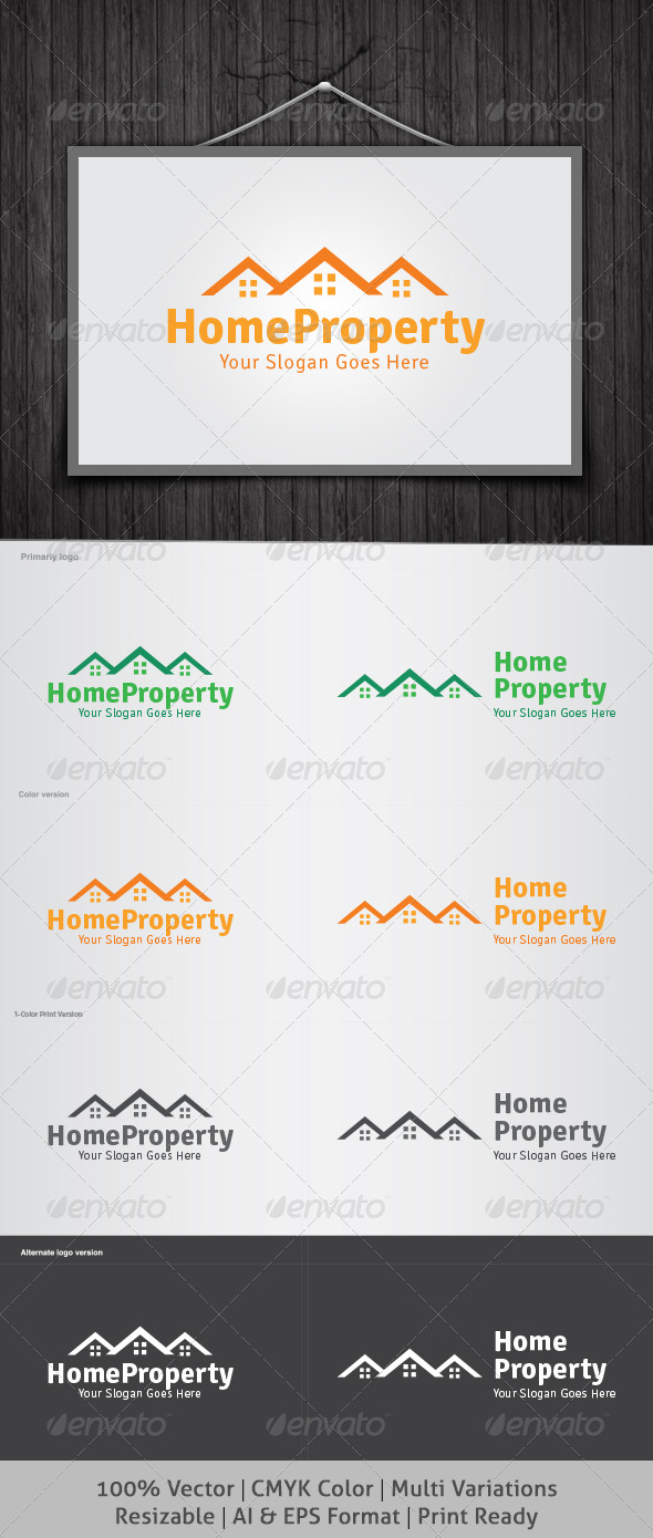 Home Property Logo - Buildings Logo Templates
