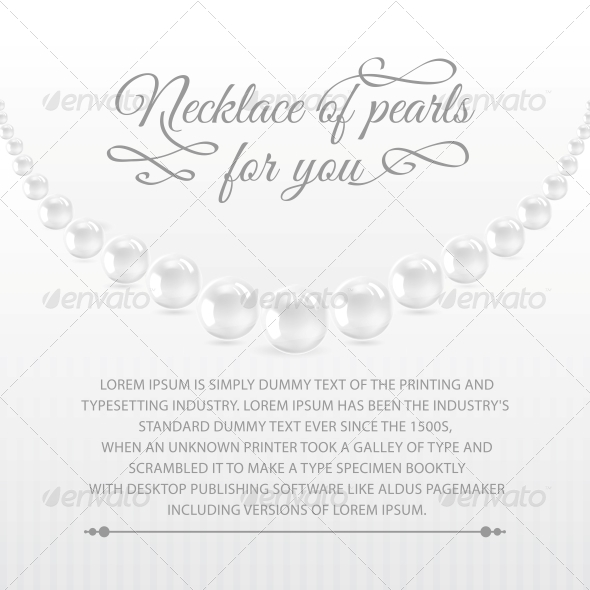 Perls on a White Background. - Abstract Conceptual