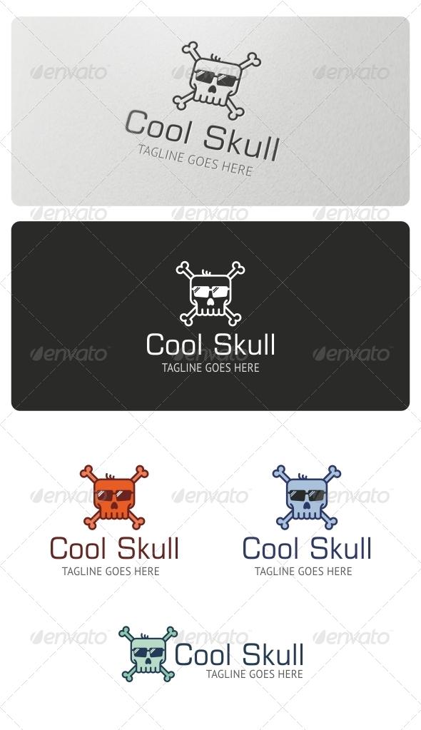 Cool Skull Logo Template - Symbols Logo Templates