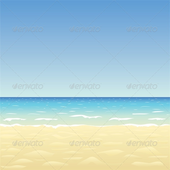 Blue Sky, Ocean and Beach - Landscapes Nature