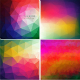 Set of Four Colorful Abstract Geometric Backgrounds - GraphicRiver Item for Sale