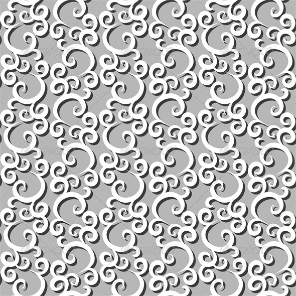 White Swirls Seamless Background - Backgrounds Decorative