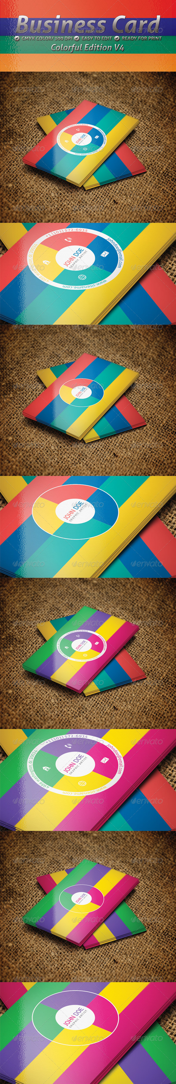 Colorful Edition V4 - Creative Business Cards