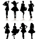 Set of Various Beautiful Model Girls in Dress - GraphicRiver Item for Sale