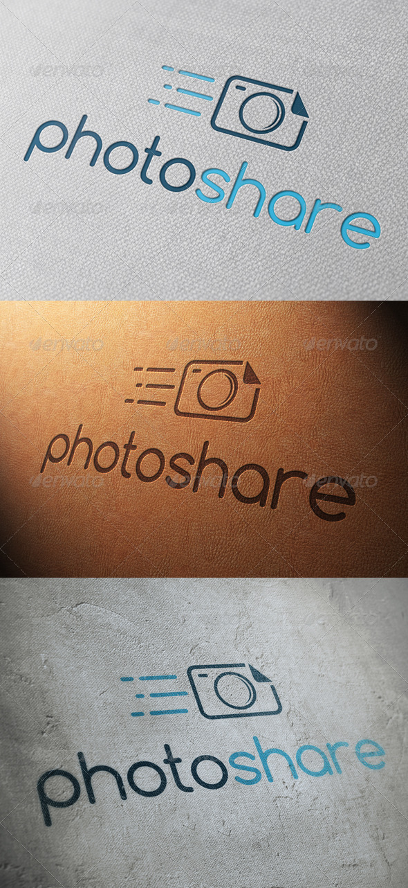 Photo Share Logo Template - Objects Logo Templates
