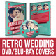 Retro Wedding DVD & Blu-ray Covers With Disc Label - GraphicRiver Item for Sale
