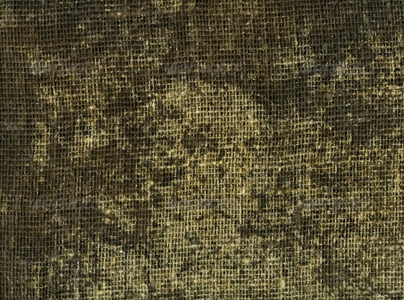 Stained burlap - Fabric Textures