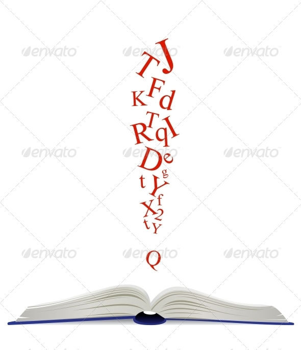 Opened Book and Attention Sign - Miscellaneous Vectors