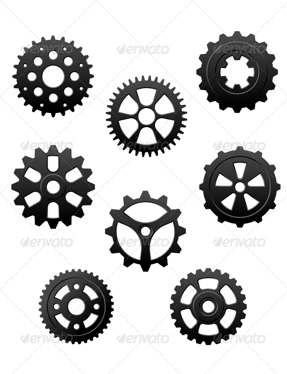 Pinions and Gears Set - Man-made Objects Objects