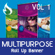 Multipurpose roll up banner Vol 1 - GraphicRiver Item for Sale