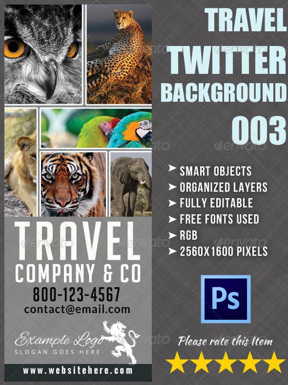 Adventure Travel Twitter Background - Twitter Social Media