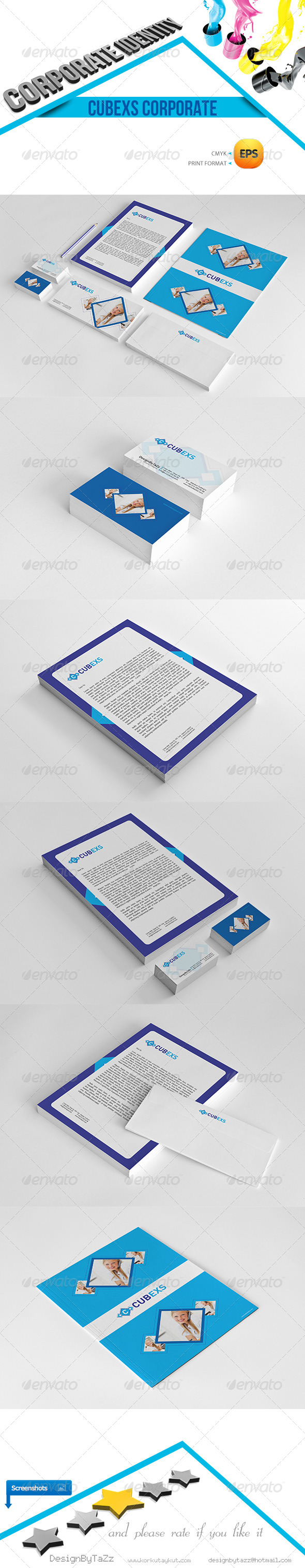 Cubexs Corporate Identity Package - Stationery Print Templates