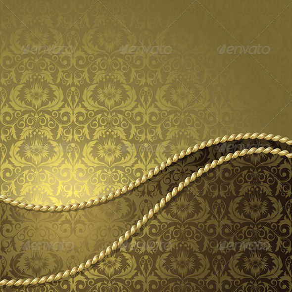 Brown and gold background  - Backgrounds Decorative