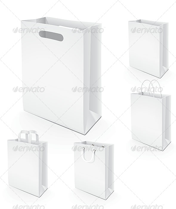 5 Paper Bags - Commercial / Shopping Conceptual