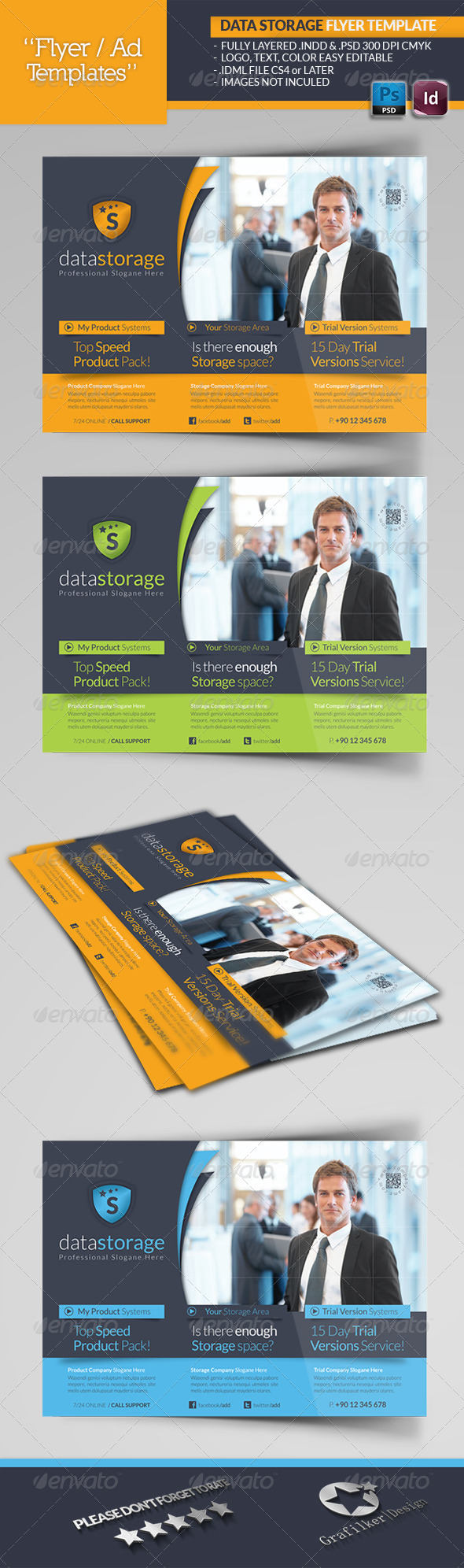 Data Storage Flyer Template - Corporate Flyers