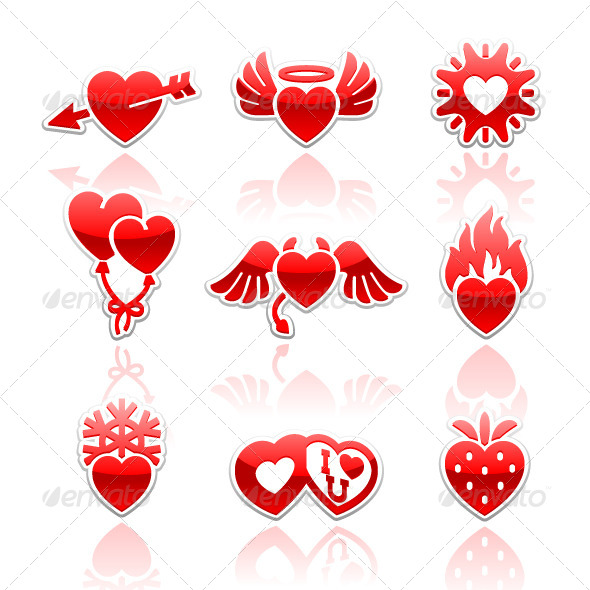Set Icons of Valentine's Day - Seasons/Holidays Conceptual