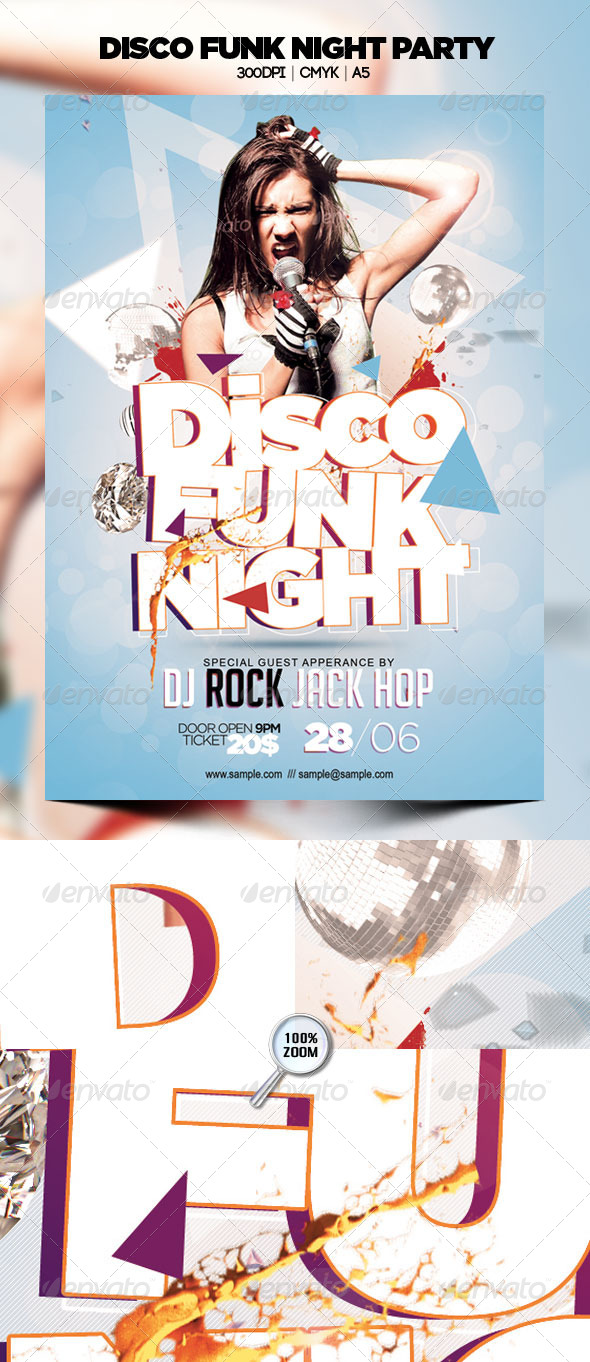 Disco Funk Night Party - Clubs & Parties Events