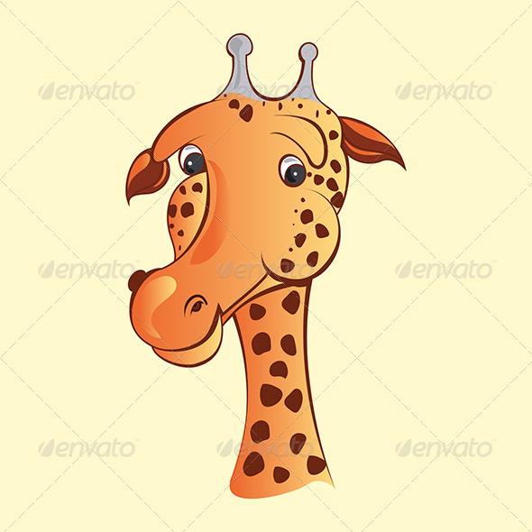 Comic Giraffe Face - Animals Characters