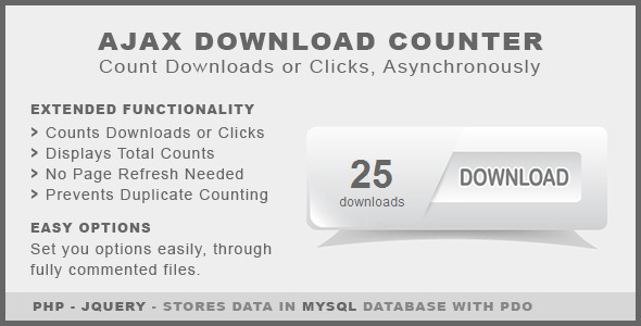 Ajax Download Counter - CodeCanyon Item for Sale