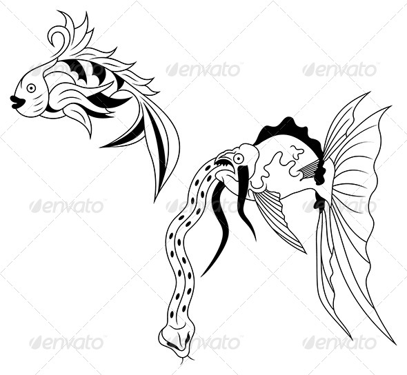 Water Elements - Animals Characters