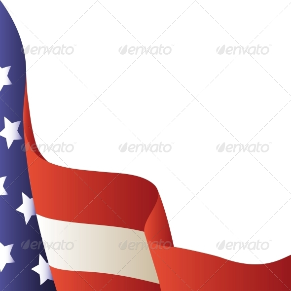Vector Illustration - 4th of July. American Flag - Miscellaneous Seasons/Holidays