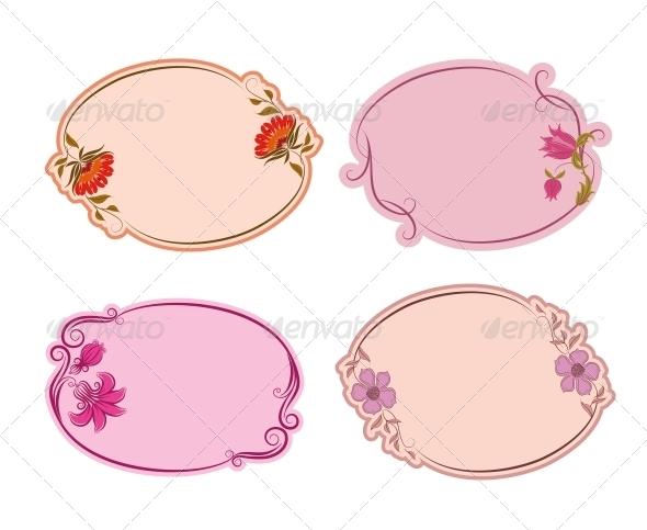 Set of Ornate Vector Frames - Borders Decorative