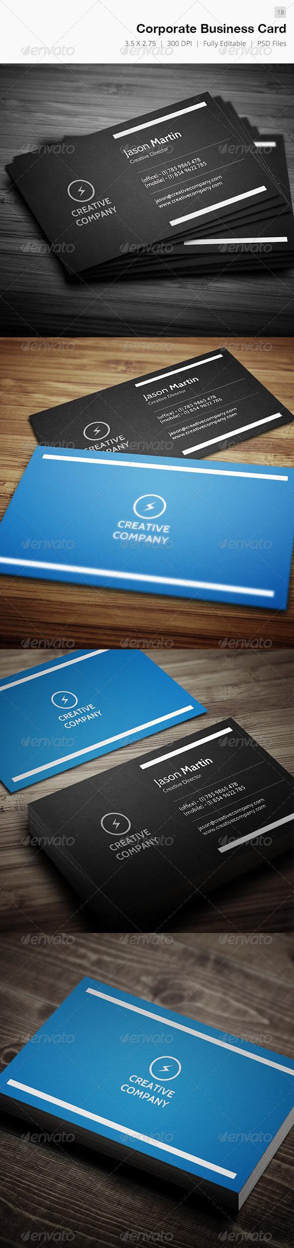 Minimal Corporate Business Card - 18 - Corporate Business Cards