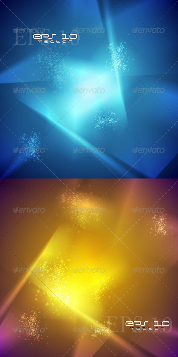 Colourful Abstract Vector Backdrops - Backgrounds Decorative