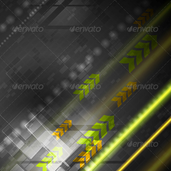 Bright Hi-Tech Vector Background - Web Technology