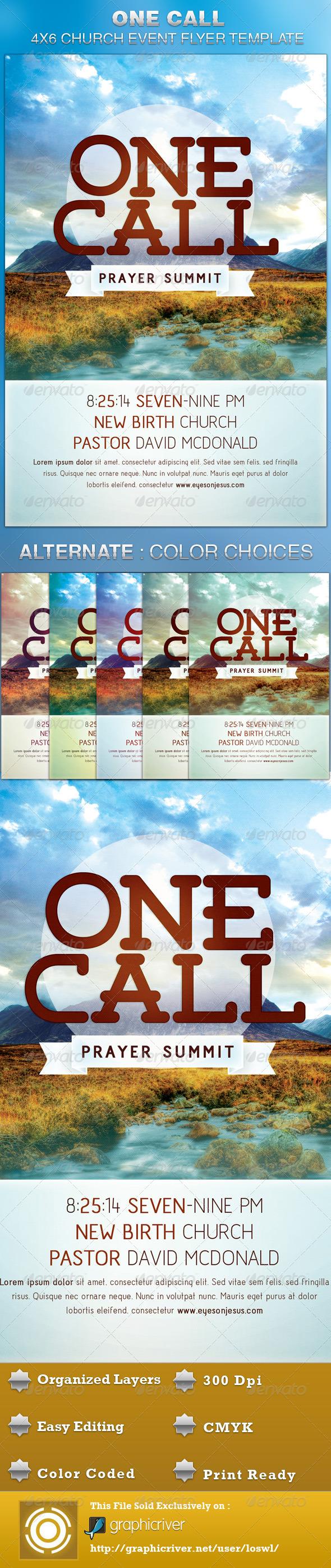 One Call Church Flyer Template - Church Flyers