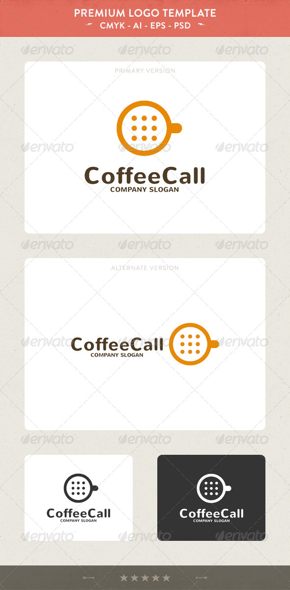 Coffee Call - Food Logo Templates