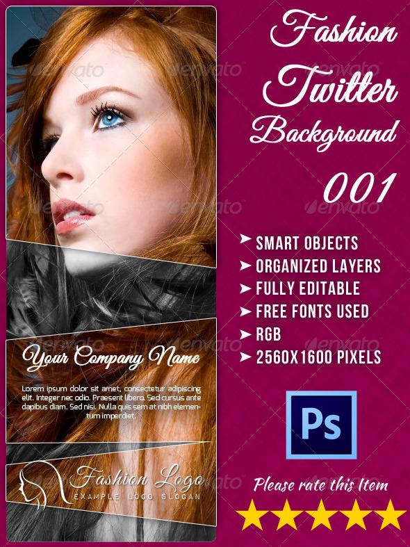 Fashion Twitter Background - Twitter Social Media