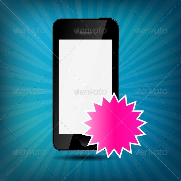 Abstract Mobile Phone Vector Illustration - Computers Technology
