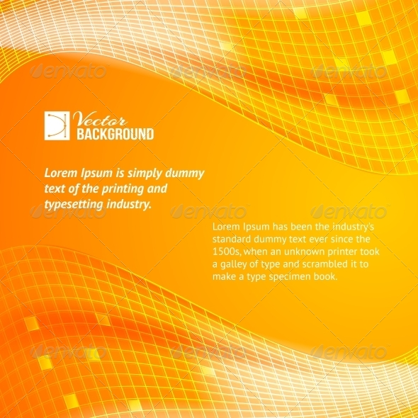 Abstract Orange Tiles Background. - Abstract Conceptual