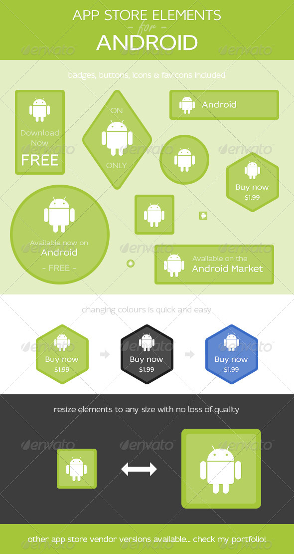 App Store Elements for Android - Web Elements
