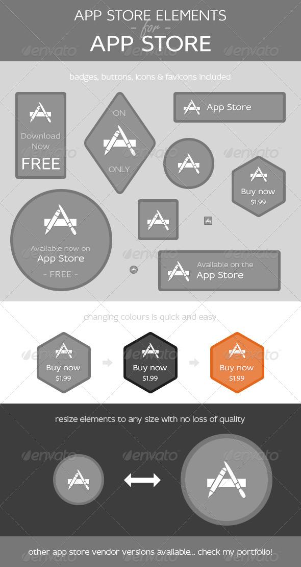 App Store Elements for App Store - Web Elements