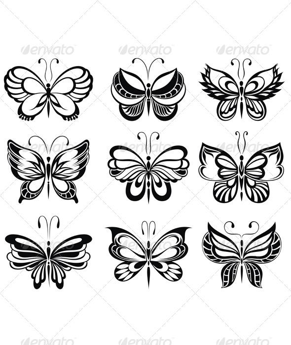 Butterflies Tattoo - Decorative Symbols Decorative