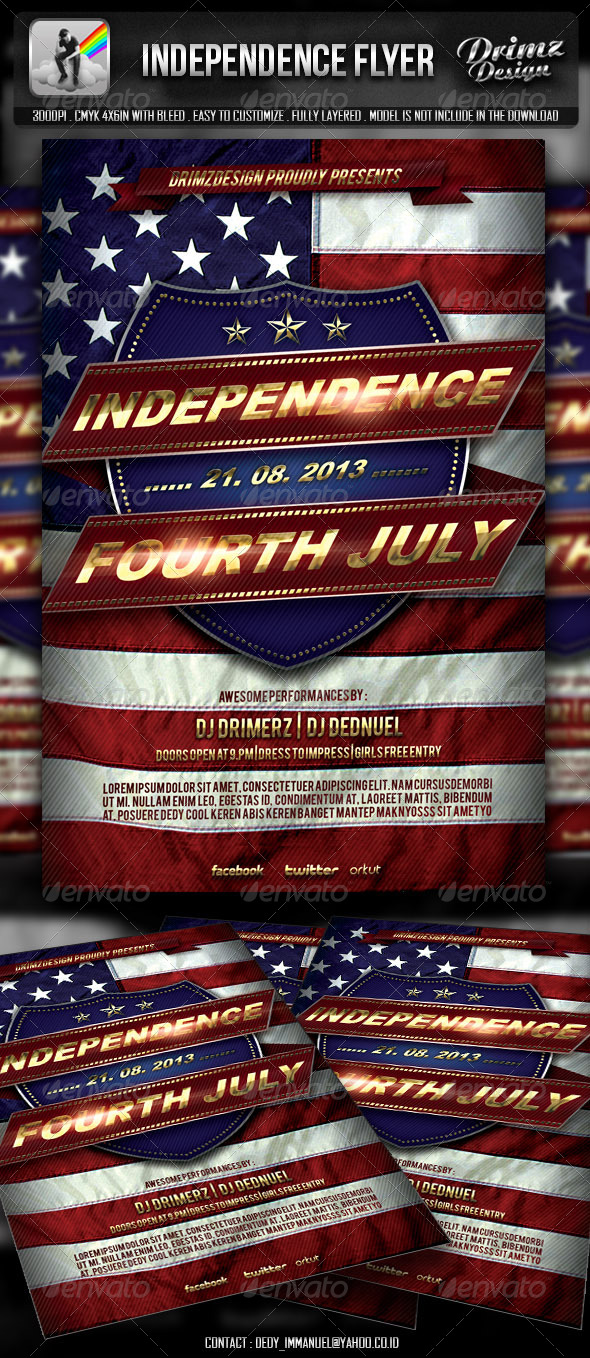 Independence Flyer - Events Flyers