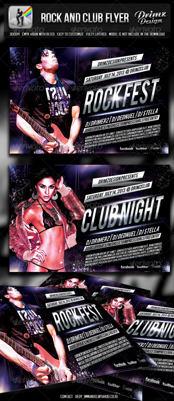 Rock And Club Flyer - Clubs & Parties Events