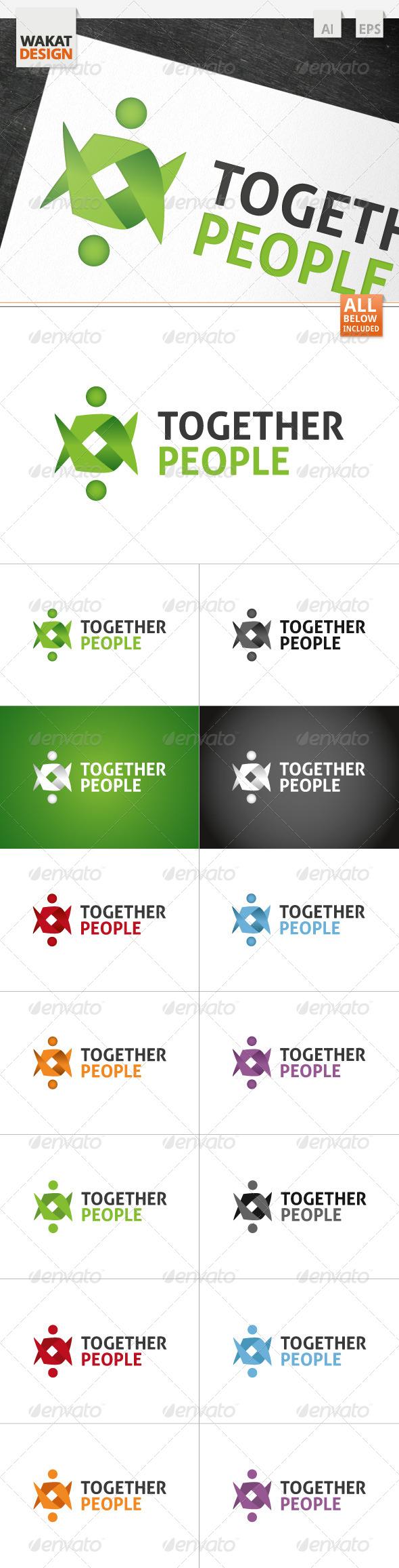 Together People Logo - Humans Logo Templates