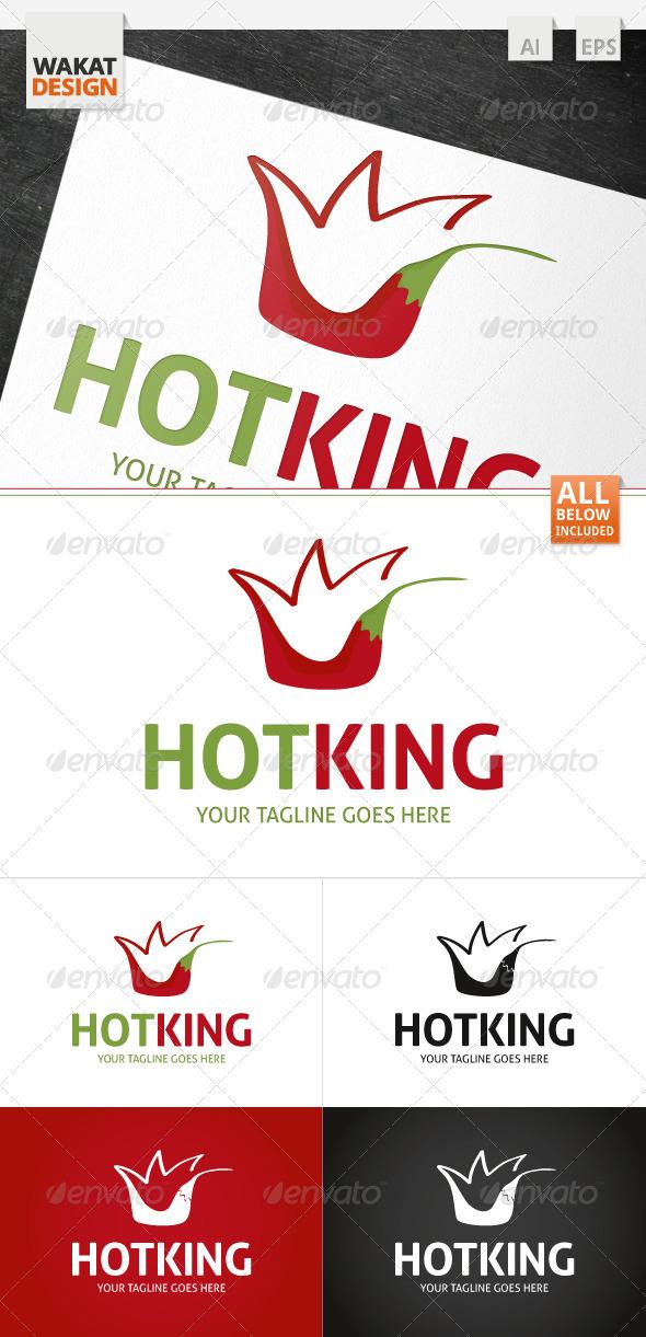 Hot King Logo - Food Logo Templates