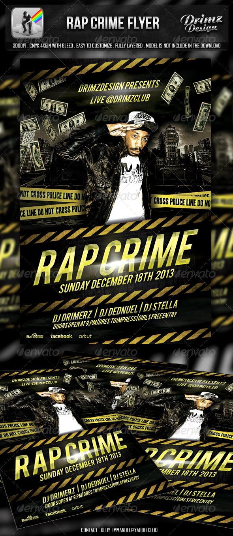 Rap Crime Flyer - Events Flyers
