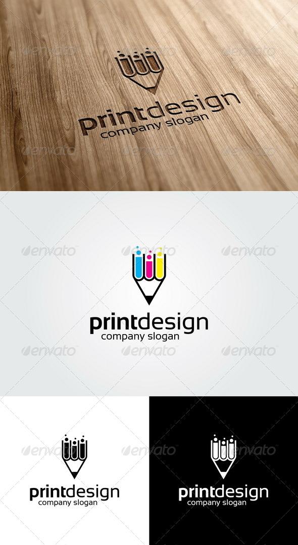 Print Design Logo Template - Vector Abstract