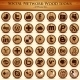Social Network Icons. Wood Texture Buttons - GraphicRiver Item for Sale