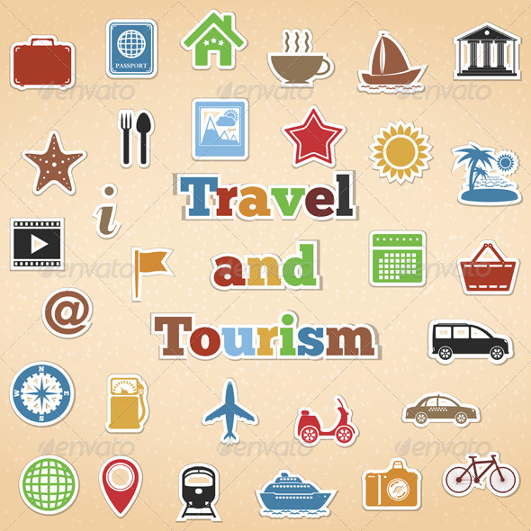 Travel and Tourism Icons - Web Elements Vectors