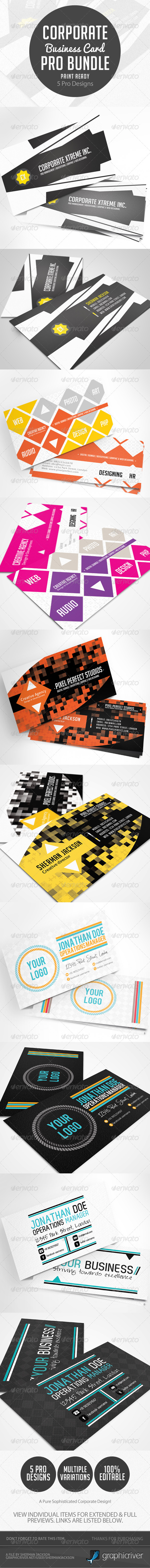 Corporate & Creative Business Card Pro Bundle - Creative Business Cards