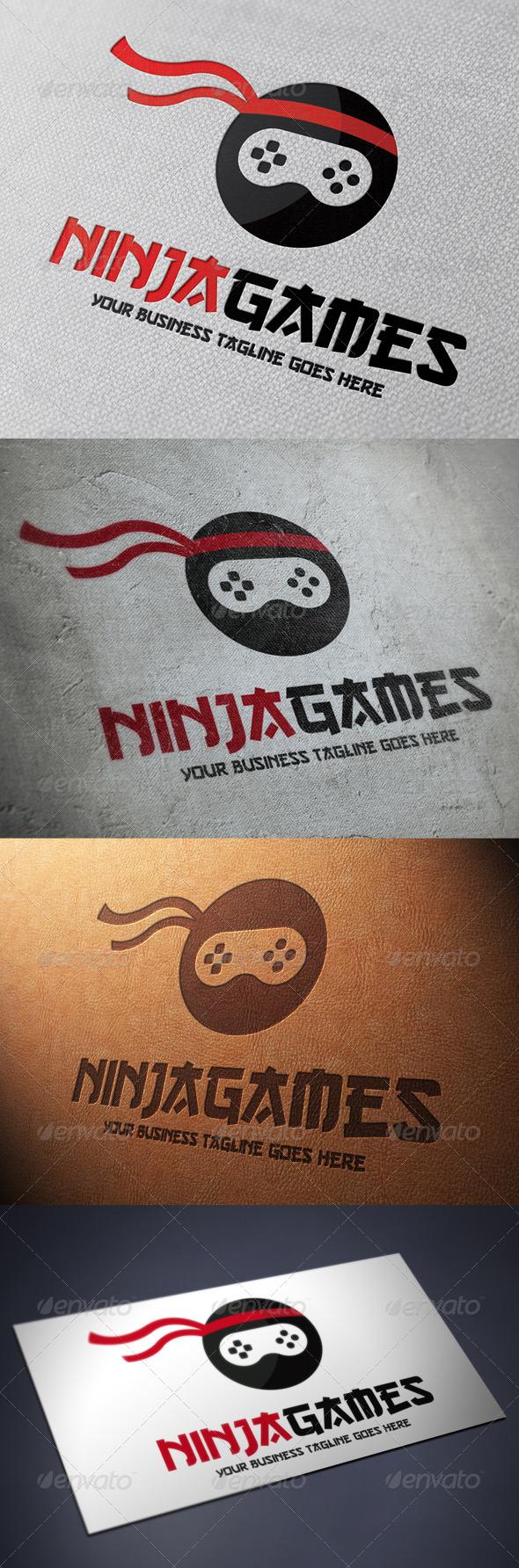 Ninja Game Logo Template - Humans Logo Templates