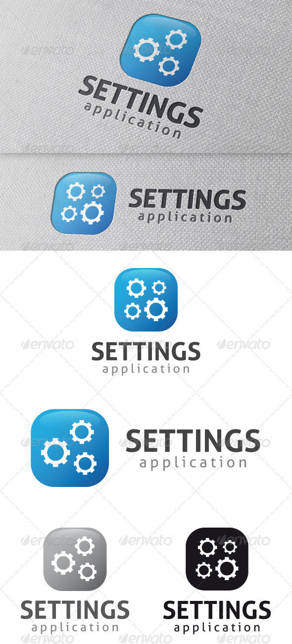 Settings App Logo Template - Symbols Logo Templates